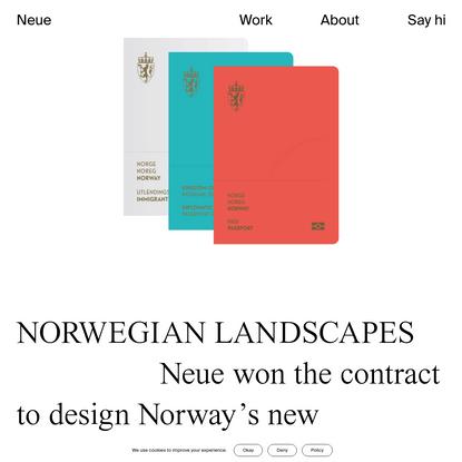 Neue Design Studio | Norwegian Passports
