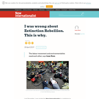 I was wrong about Extinction Rebellion. This is why.