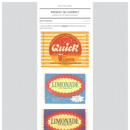 drink labels | Present&Correct