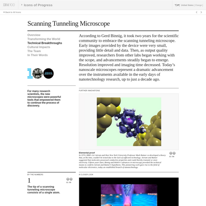 IBM100 - Scanning Tunneling Microscope