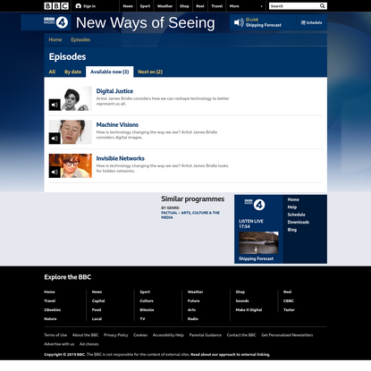 BBC Radio 4 - New Ways of Seeing - Available now
