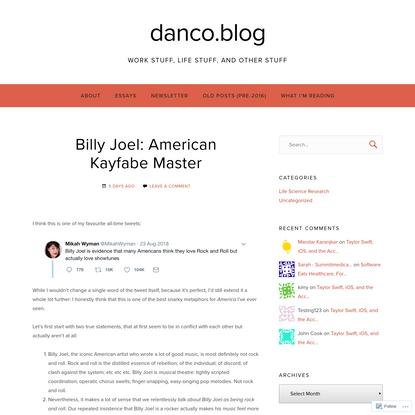 Billy Joel: American Kayfabe Master