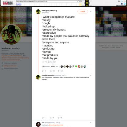 trashymctrashboy on Twitter