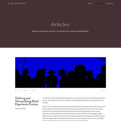 Articles - Alex Bradley