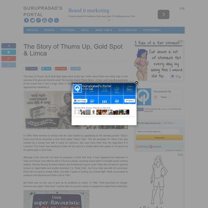 The Story of Thums Up, Gold Spot & Limca - Guruprasad's Portal