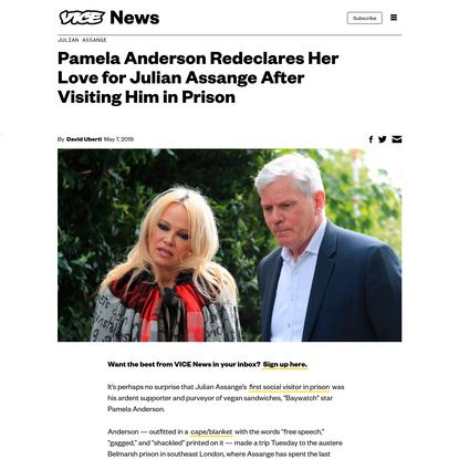 Pamela Anderson Redeclares Her Love for Julian Assange After Visiting Him in Prison