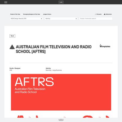 Australian Film Television and Radio School (AFTRS)   AGDA Awards