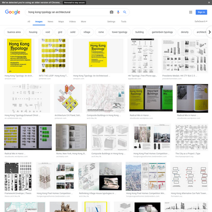 hong kong typology an architectural - Google Search