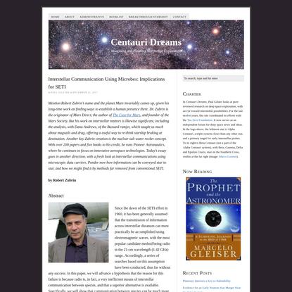 Interstellar Communication Using Microbes: Implications for SETI