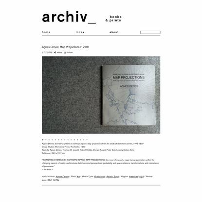 Agnes Denes: Map Projections (1979) - archiv_