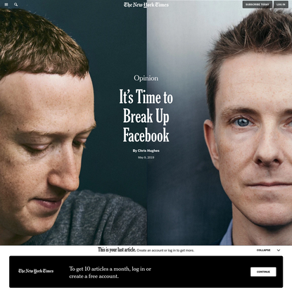 Opinion   It's Time to Break Up Facebook