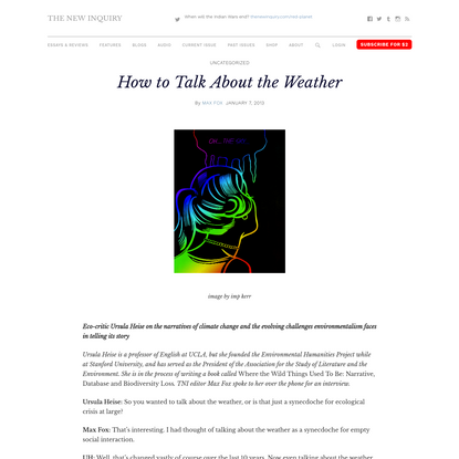 How to Talk About the Weather