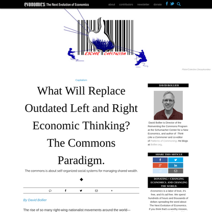 What Will Replace Outdated Left and Right Economic Thinking? The Commons Paradigm. - Evonomics
