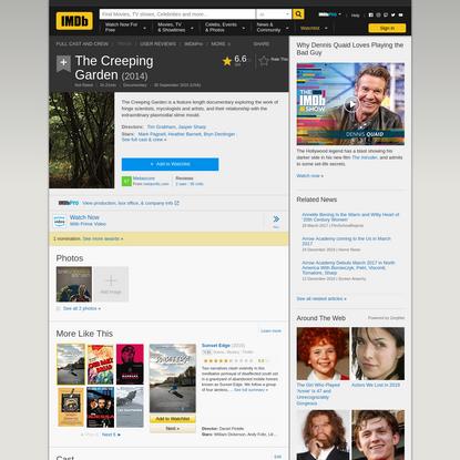 The Creeping Garden (2014) - IMDb