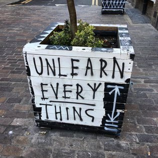 """""""Unlearn Everything"""" Instagram post by Jacob Sam-La Rose * May 11, 2019 at 6:28pm UTC"""