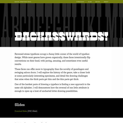 Backasswards - DJR