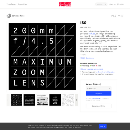 ISO by Scribble Tone - Future Fonts