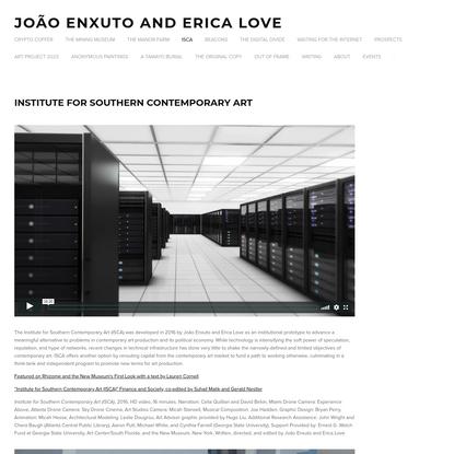 ISCA - João Enxuto and Erica Love