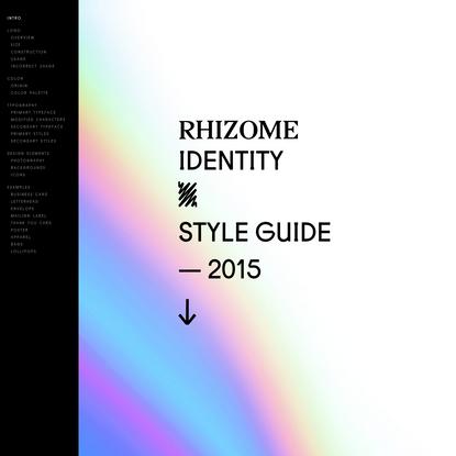Rhizome Styleguide