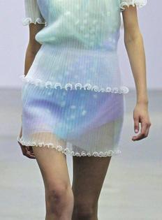 Iceberg sheer frilled sleeve dress S-S 2014