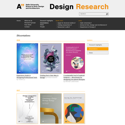 Dissertations - DESIGN RESEARCH