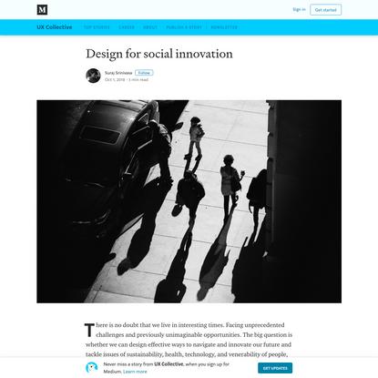 Design for social innovation