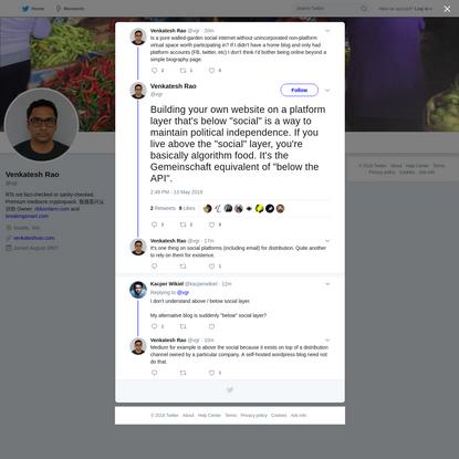 Venkatesh Rao on Twitter