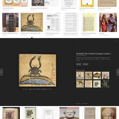 aristotle history of animals - Google Search