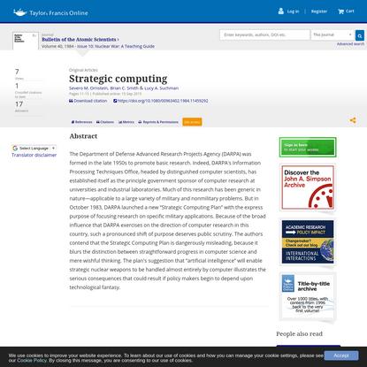 Strategic computing