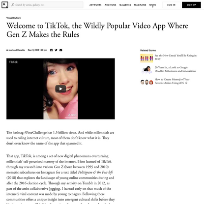 Adventures in TikTok, the Wildly Popular Video App Where Gen Z Rules, Joshua Citarella