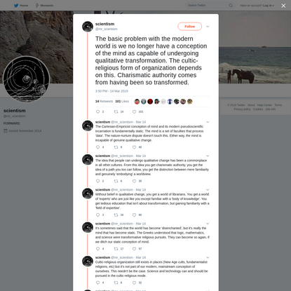 scientism on Twitter