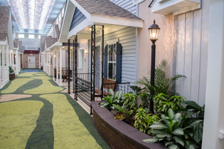 Mock Town Inside Of Assisted Living Facility Designed To Help People With Alzheimer's