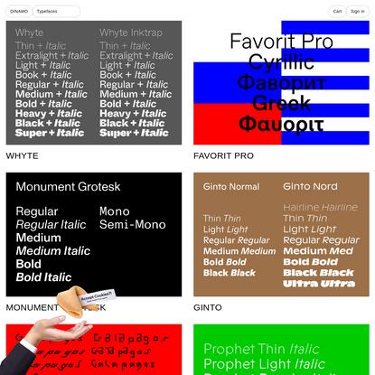 DINAMO: Typefaces