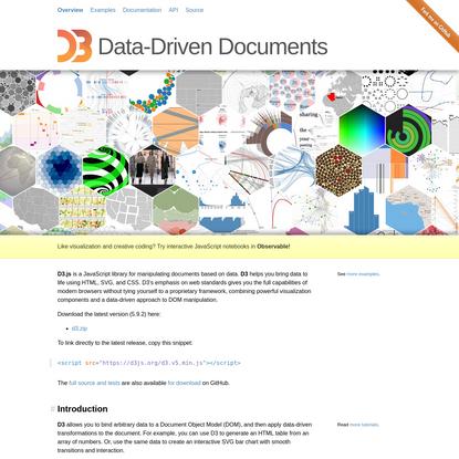 D3.js - Data-Driven Documents