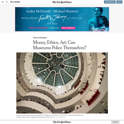 Money, Ethics, Art: Can Museums Police Themselves?
