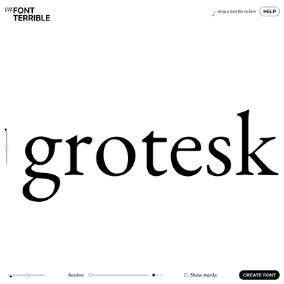 enFont Terrible - a terrible type foundry
