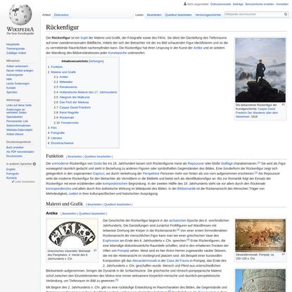 Rückenfigur - Wikipedia