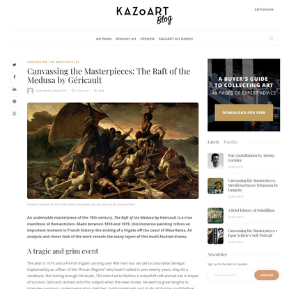 Canvassing the Masterpieces: The Raft of the Medusa by Géricault - The KAZoART Contemporary Art Blog
