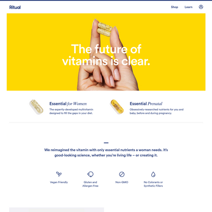 Ritual: The Future of Vitamins is Clear