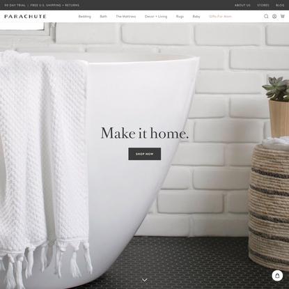 Parachute - Home happens here. Bedding, bath linens, decor and more. - Parachute Home