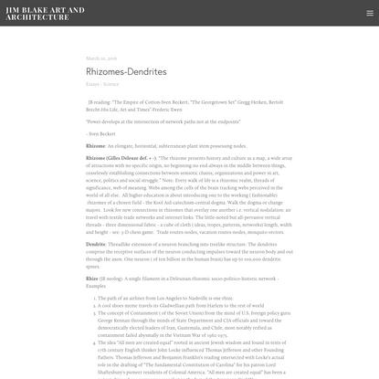 Rhizomes-Dendrites