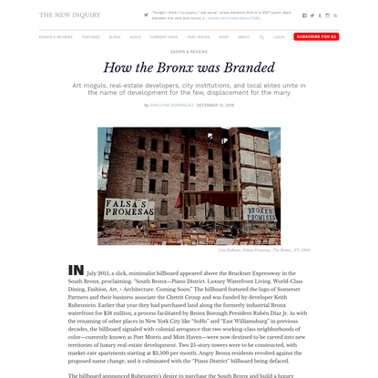 How the Bronx was Branded