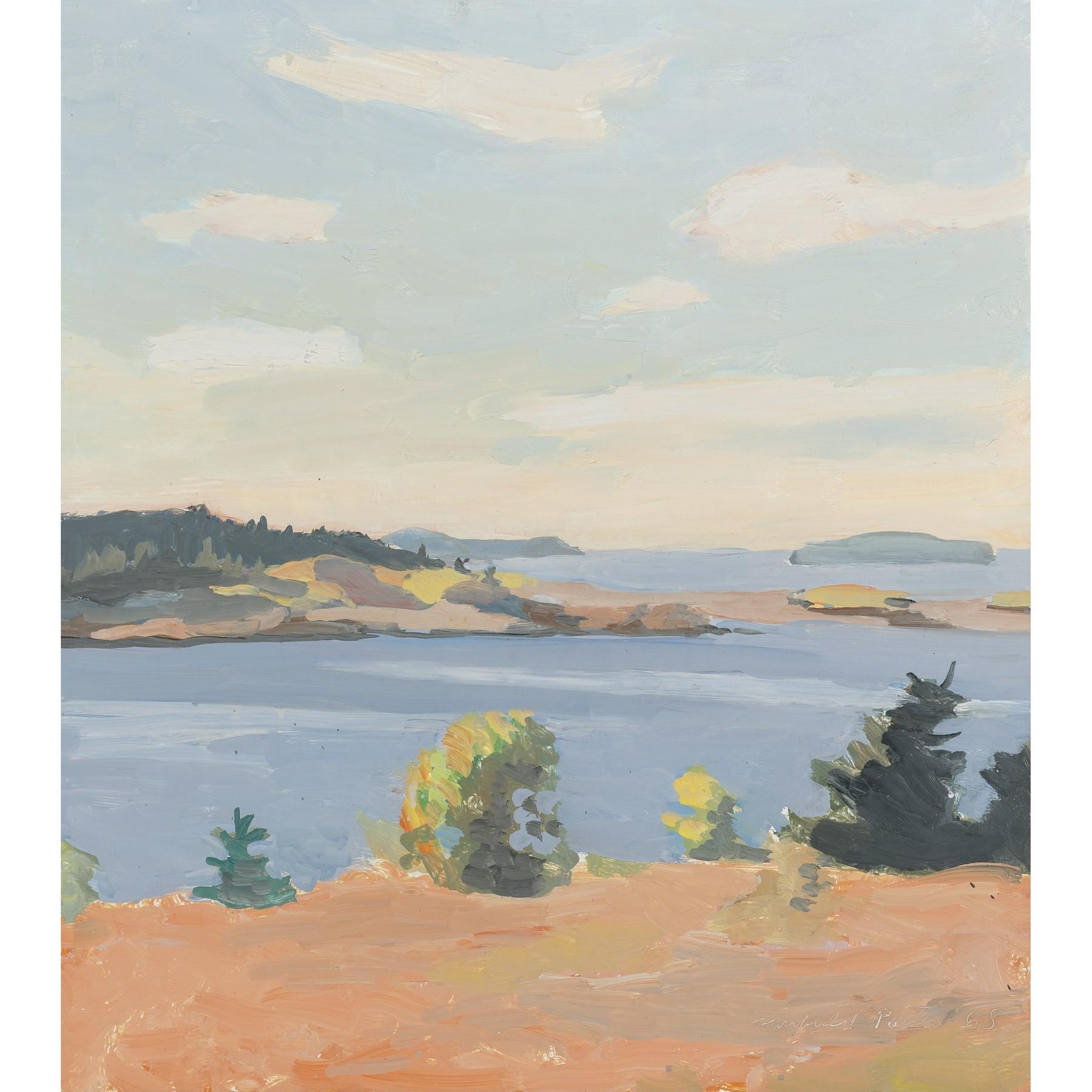Fairfield Porter, View Of Penobscot Bay, Maine, 1968
