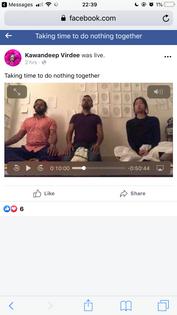 livestream meditation with kawan