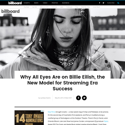 Why All Eyes Are on Billie Eilish, the New Model for Streaming Era Success