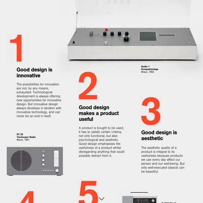 'Ten Commandments' from 'Dieter Rams: Ten Principles For Good Design' by Shuffle