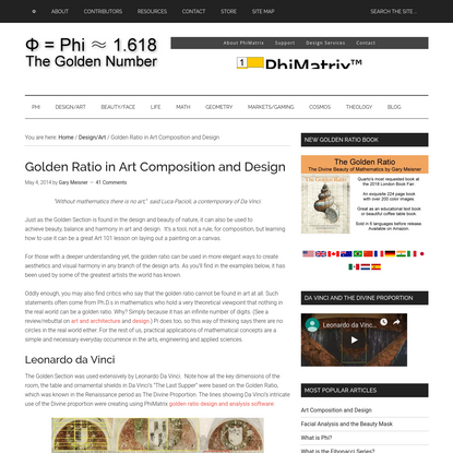 Golden Ratio in Art Composition and Design