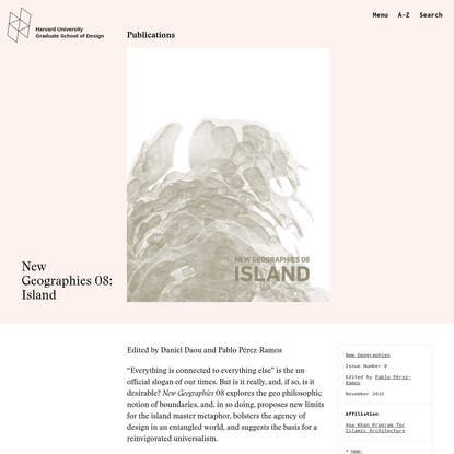 New Geographies 08: Islands