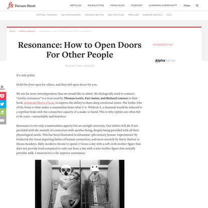 Resonance: How to Open Doors For Other People