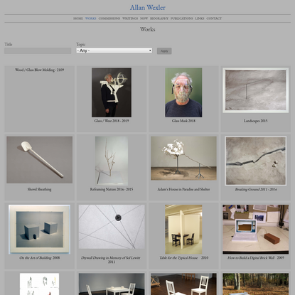 Works | Allan Wexler